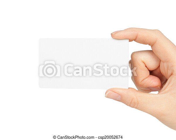 Hand holding business card hand holding business card csp20052674 colourmoves