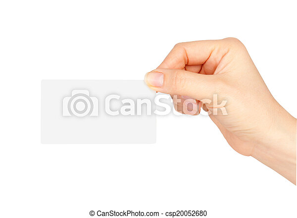 Hand holding business card hand holding business card csp20052680 colourmoves