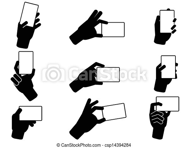 Isolated hand holding business cards from white background vector hand holding business cards csp14394284 colourmoves Images