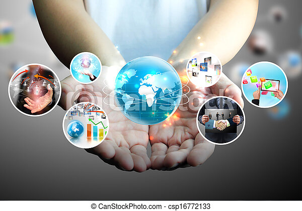 hand holding business collection  - csp16772133