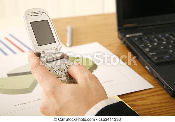 Hand Holding Cellphone - csp3411333
