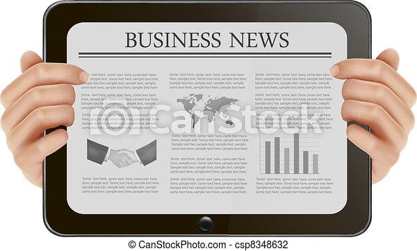 Hand holding digital tablet pc - csp8348632