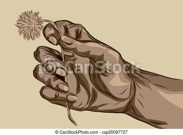 Hand Holding Flower Vector Clip Art Eps Images 2 713 Hand Holding