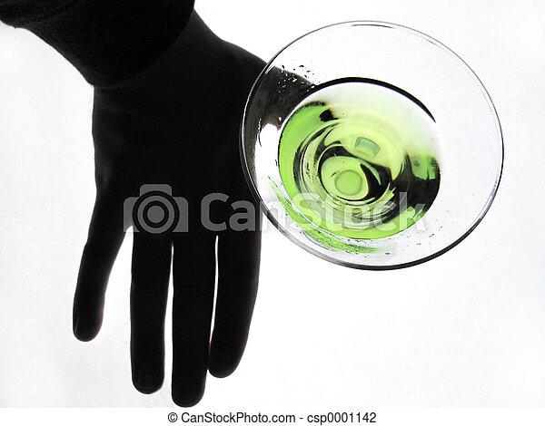 Hand Holding Glass - csp0001142
