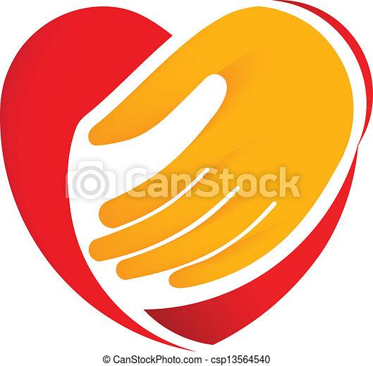 Hand holding heart - csp13564540