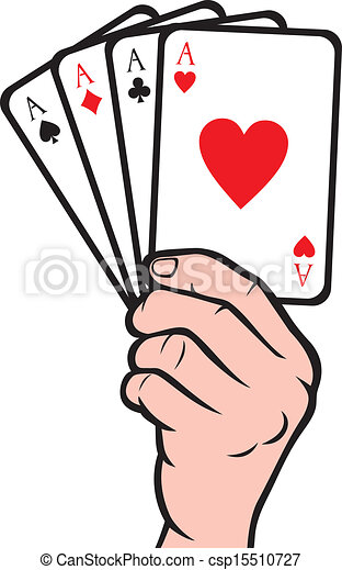 hand holding playing card vector illustration search clipart rh canstockphoto com playing card vector template playing card vector design