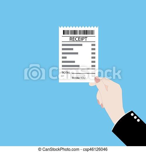 Hand holding receipt - csp46126046