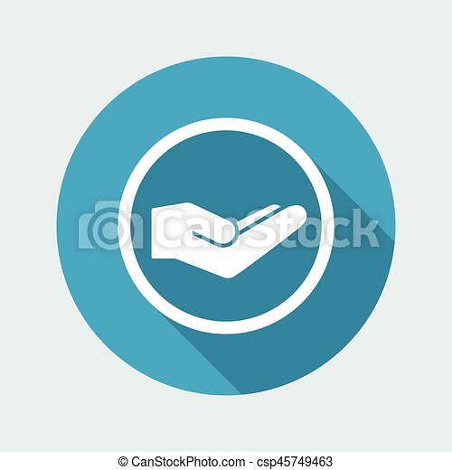 Charity Symbol Of Helping Hand Vector Icon Template Charity