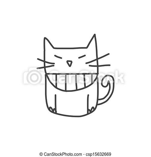 hand, karakter, spotprent, geluk, tekening - csp15632669