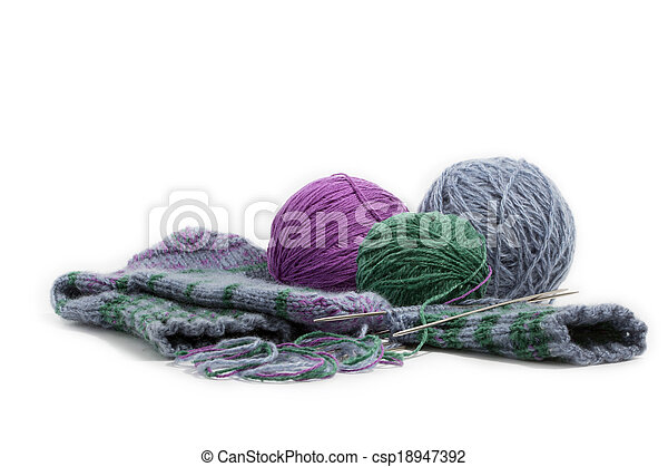 hand knitted socks - csp18947392