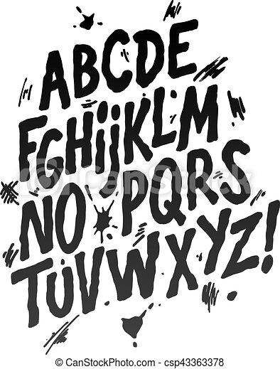 Hand lettering sketch font vector alphabet hand lettering font hand lettering sketch font vector alphabet altavistaventures Choice Image