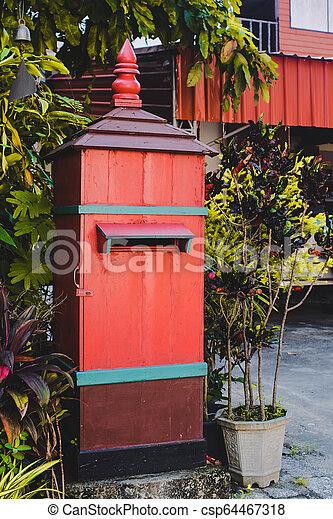 Hand made big mail box at home. - csp64467318