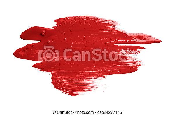 Hand made oil paint brush stroke - csp24277146