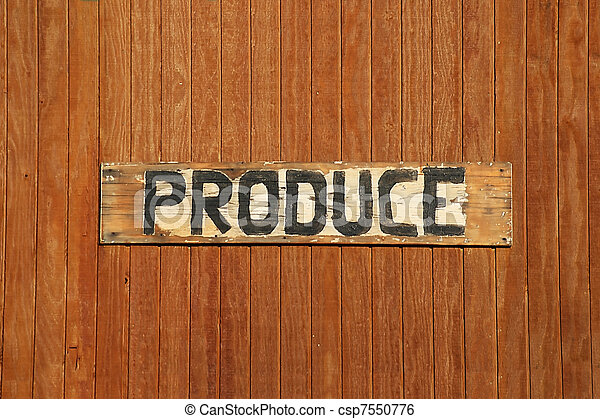 Hand-made Produce Sign - csp7550776