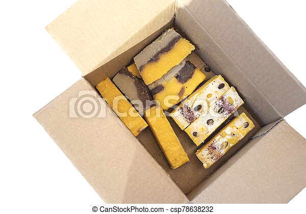 Hand made soap in the box. - csp78638232