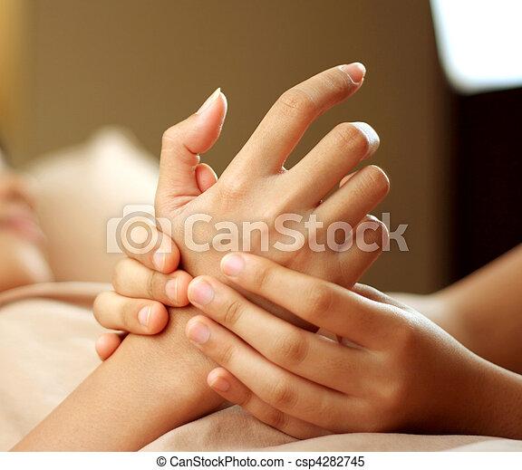 hand massage - csp4282745