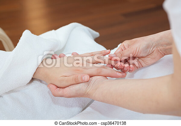 Hand massage - csp36470138