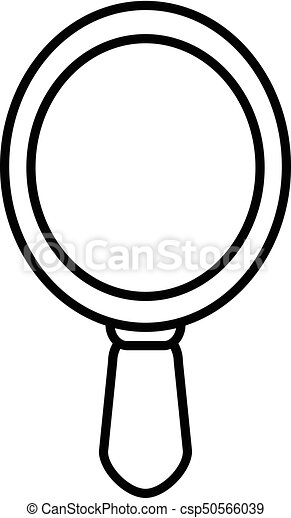 hand mirror icon outline style hand mirror icon outline rh canstockphoto com vintage hand mirror clipart