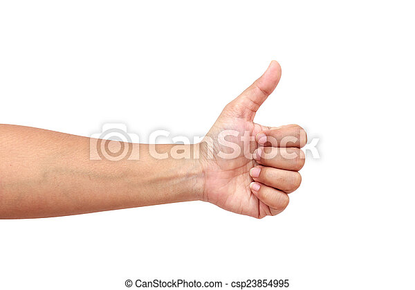 Hand of women isolated on white background - csp23854995