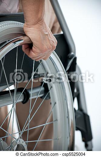 hand on wheelchair - csp5525004
