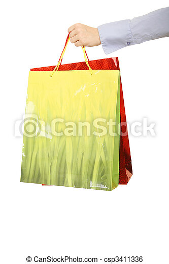 Hand Over Shopping Bags - csp3411336
