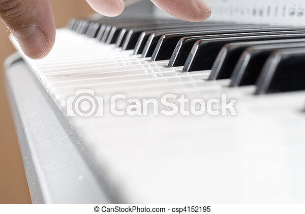 Hands Playing Piano Clipart