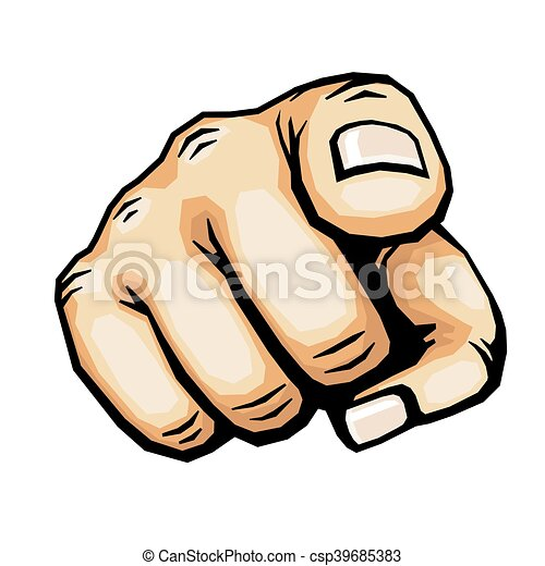 hand pointing finger vector illustration hand pointing vector rh canstockphoto com pointing finger vector art pointing finger vector image