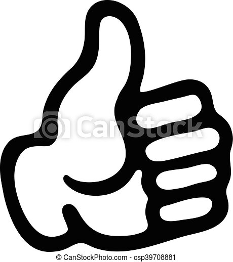 hand positive thumbs up gesture hand making positive thumbs rh canstockphoto com thumbs up vector png thumbs up vector png