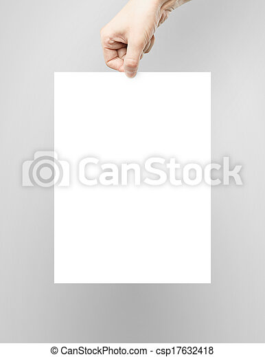hand poster - csp17632418