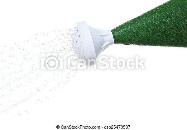 Hand pouring water from watering can - csp25470537