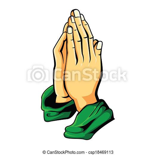 hand prayer - csp18469113