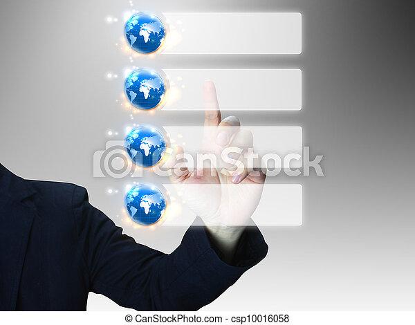 hand press business diagram - csp10016058