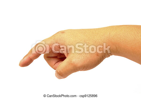 Hand press button - csp9125896