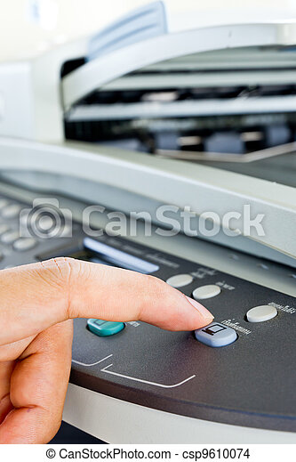 Hand press fax button - csp9610074