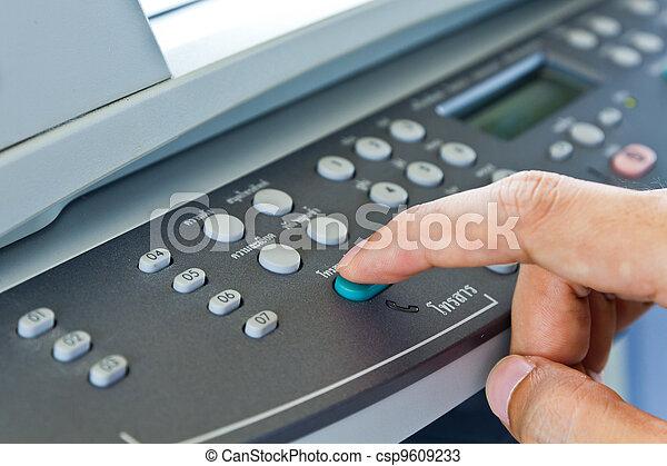 Hand press fax button - csp9609233