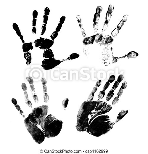 hand print printout of human hand with unique detail