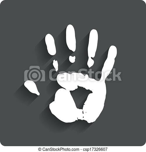 Hand Print Human Handprint Icon Vector