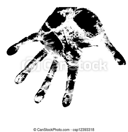 Hand print, skin texture pattern, vector illustration. - csp12393318
