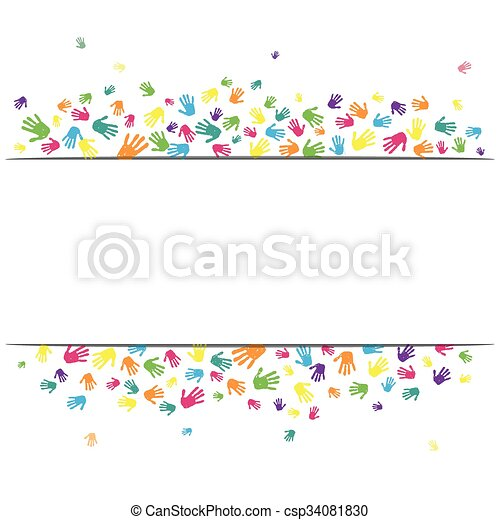 Hand prints background - csp34081830