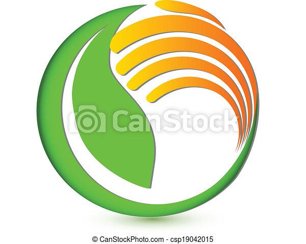Hand protecting environmental logo - csp19042015
