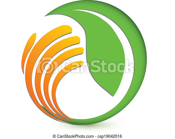 Hand protecting environmental logo - csp19042016