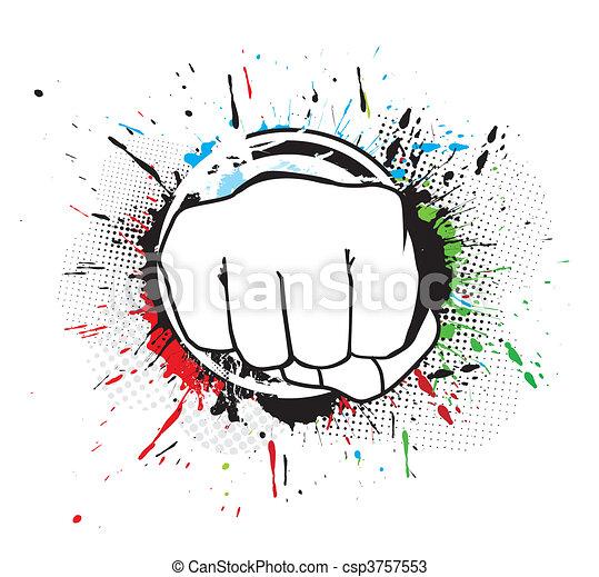 hand punch - csp3757553