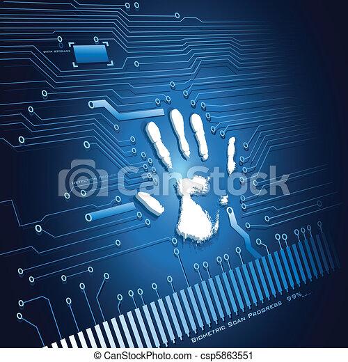 Hand Scanning - csp5863551