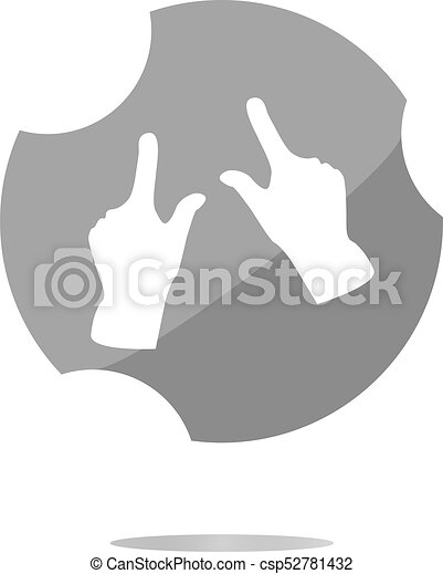 hand set icon, web button isolated on white - csp52781432