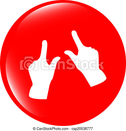 hand set icon, web button isolated on white - csp20538777