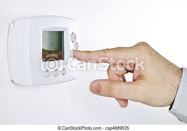 Hand setting digital thermostat - csp4689535