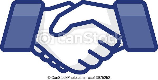 Hand shake - csp13975252