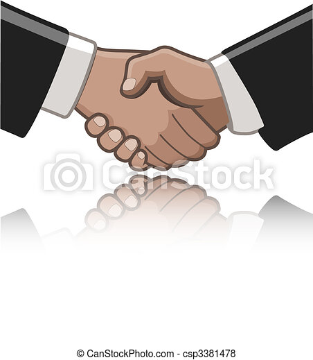 Hand shake - csp3381478