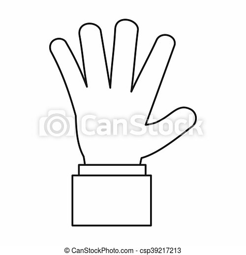 Hand showing five fingers icon outline style hand showing five hand showing five fingers icon outline style csp39217213 voltagebd Image collections