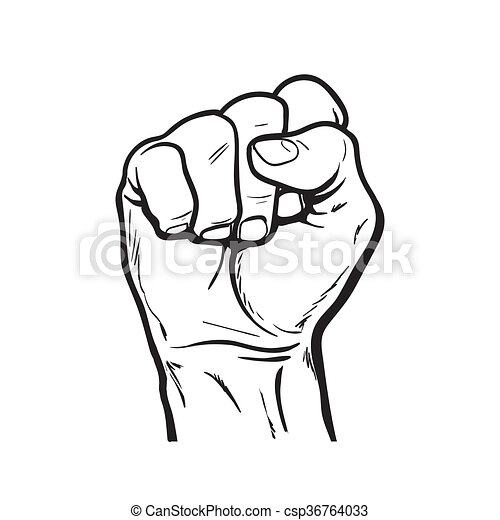 Hand Shows The Fist As A Symbol Of Power Clenched Fist Hand